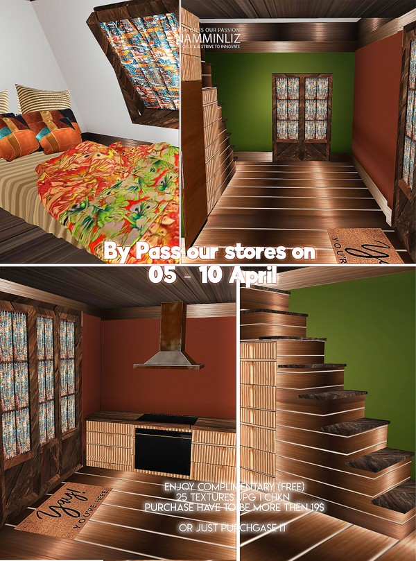 By Pass our stores on 05 - 10 April Home decor  25 Textures JPG 1 CHKN