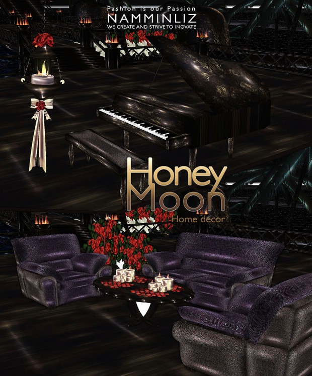 HoneyMoon Room imvu home decor 27 textures PNG