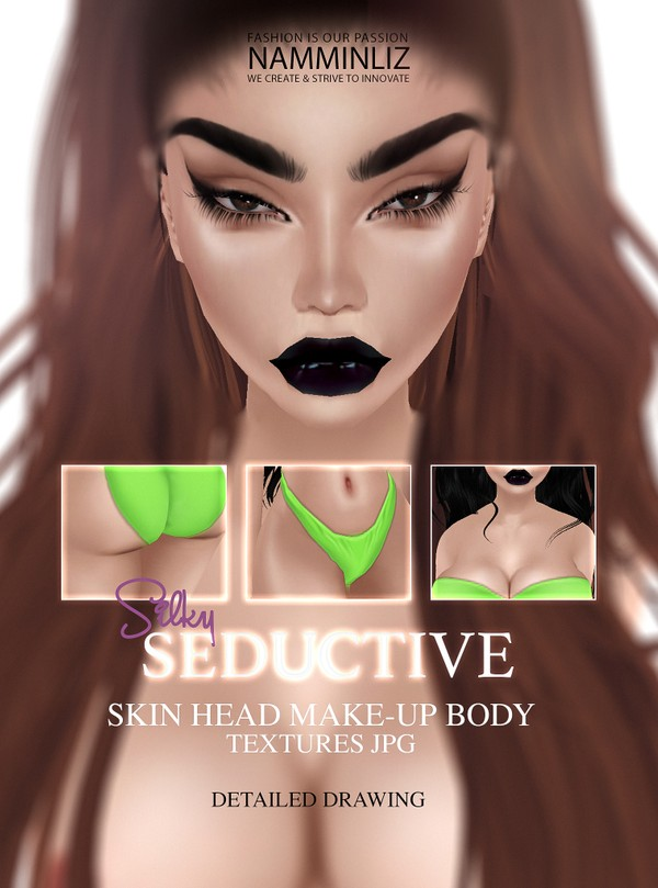 Seductive Skin Head Make-up Body Textures JPG Silky Light imvu skin