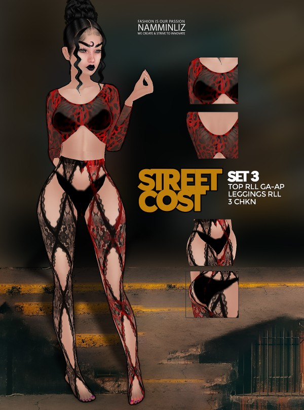 Street Cost SET3 Top AP-GA & Leggings RLL 3 CHKN