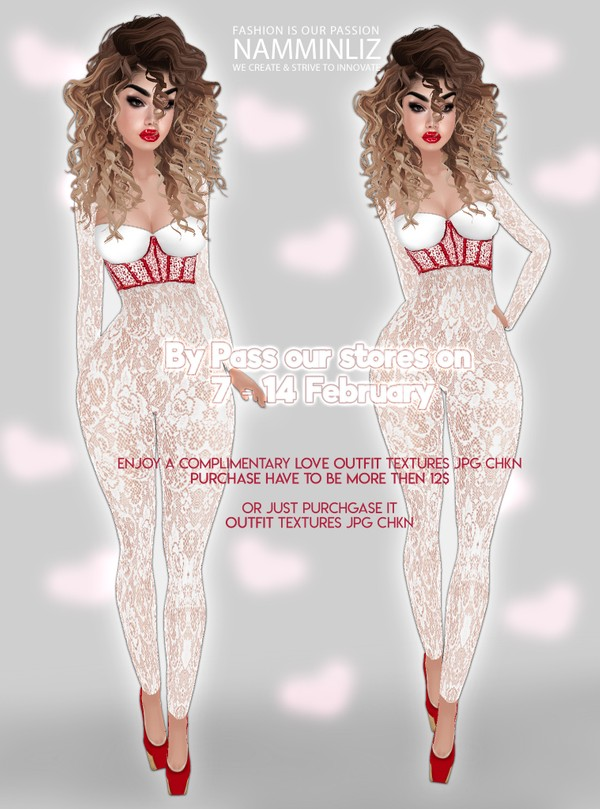 ByPass our stores on 7 to 14 February to get a complimentary Love Outfit textures JPG CHKN