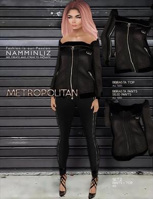 Metropolitan SET2 imvu textures bibirasta Top & Pants Sis3d
