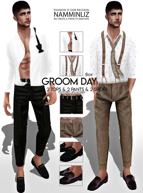 Groom Day Box (2 Tops, 2 Pants, 2 Shoes) Textures JPG 6 CHKN