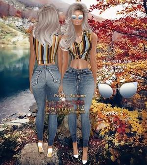 Pretty Autumn combo2 Jean Bibirasta/Sis3d + Tops +  Sunglasse