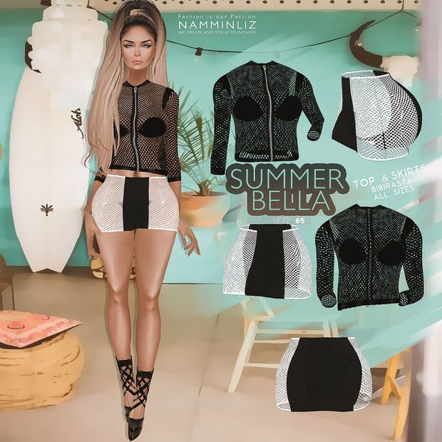 Summer Bella SET 2   •Top & Skirt Bibirasta