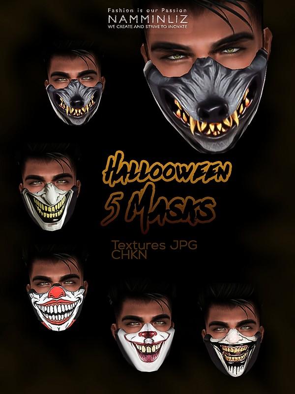 Halloween Masks 5 JPG Textures JPG CHKN