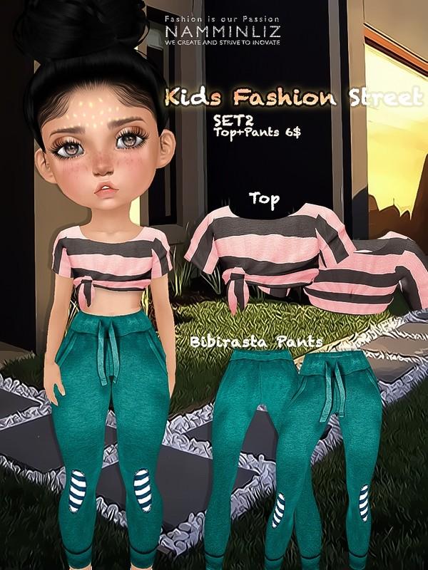 Kids fashion street SET2 ( Top + Pants textures JPG bibirasta all sizes)