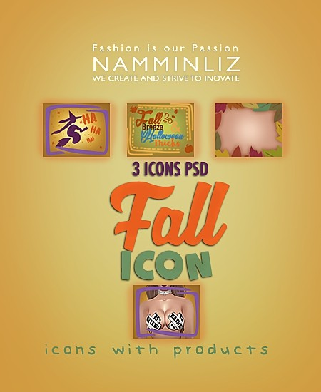 Fall 3 icons PSD collection