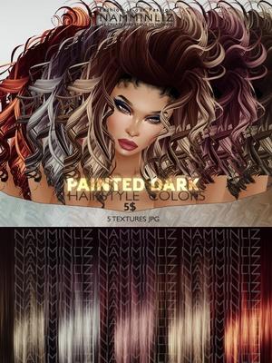 Painted Dark Hair colors 5 Textures JPG