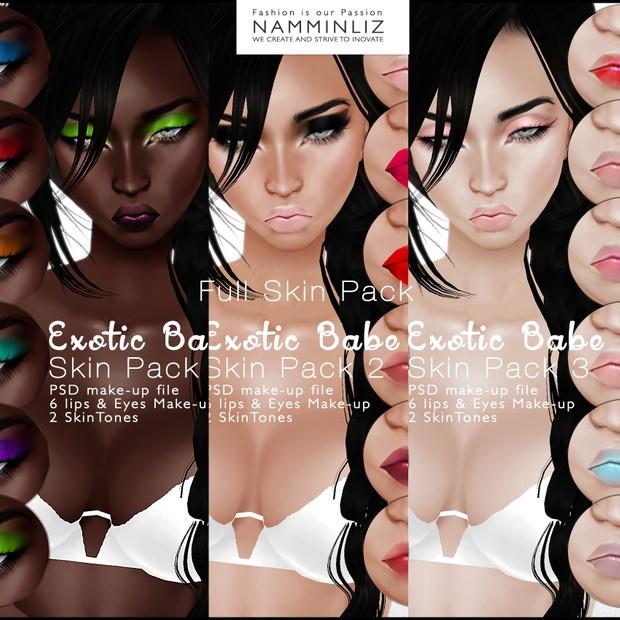 🍍🍓🍋 Exotic Babe Skin Pack1 🍍🍓🍋 ^ . ~