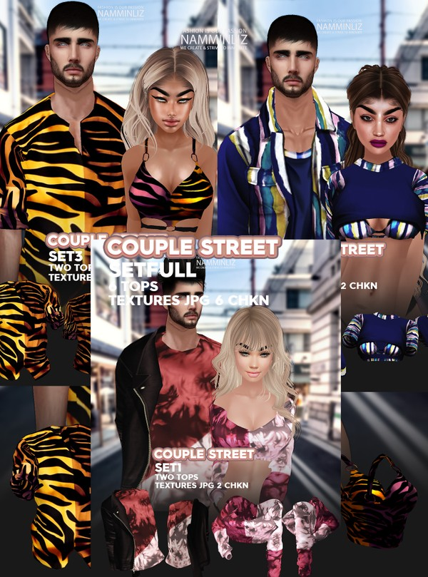 Couple Street SET Full Textures JPG 6 TOPS 6 CHKN