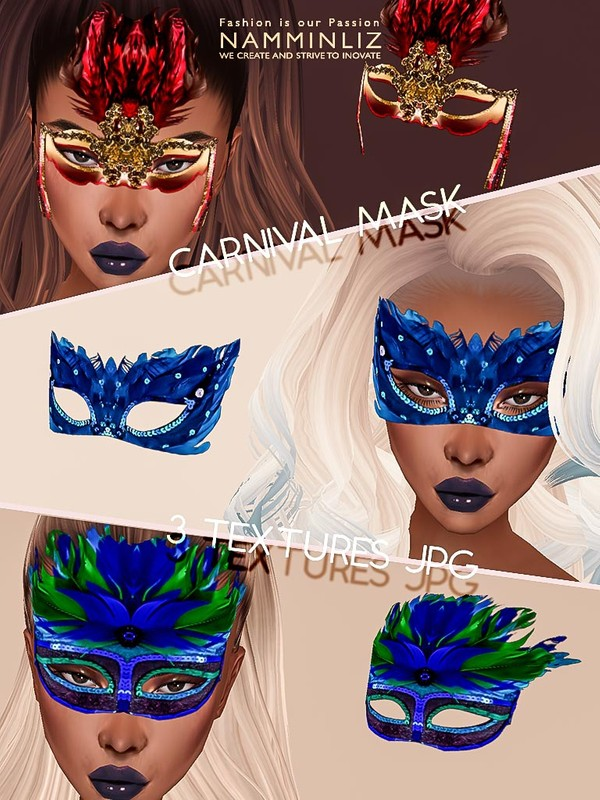 Carnival mask 3 Textures JPG 3 CHKN