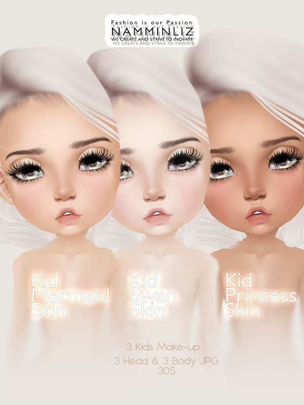 Kid Skin & Make-up ( Swan, Mermaid, Princess )JPG (6* .CHKN file)