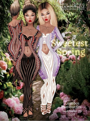 Sweetest Spring combo 1 Two Outfits ( Sis3d textures JPG )