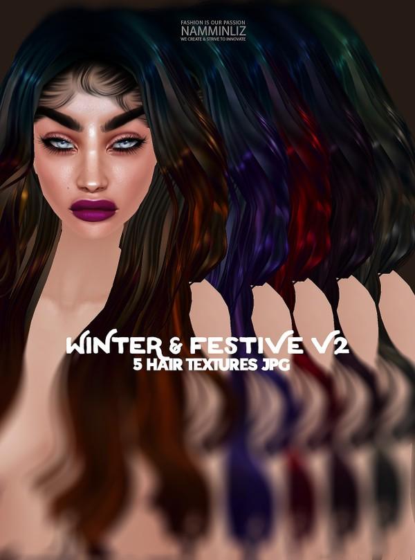 Winter & Festive 5 V2 Hair Textures JPG