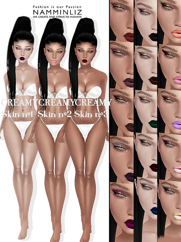 Creamy Skin N1,2,3  3Body & 3Head JPG 18 Lips 18 Make-up 18 PSD