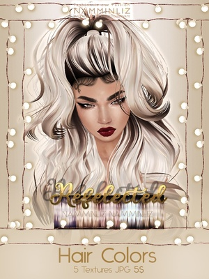Reflected Hair Colors V3 Textures JPG imvu NAMMINLIZ file sale