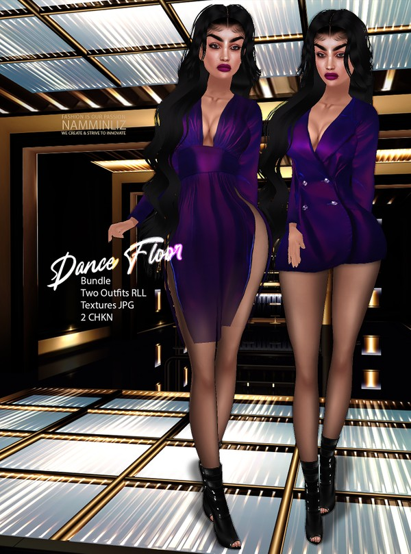 Dance Floor Bundle Two Outfits RLL Textures JPG 2 CHKN