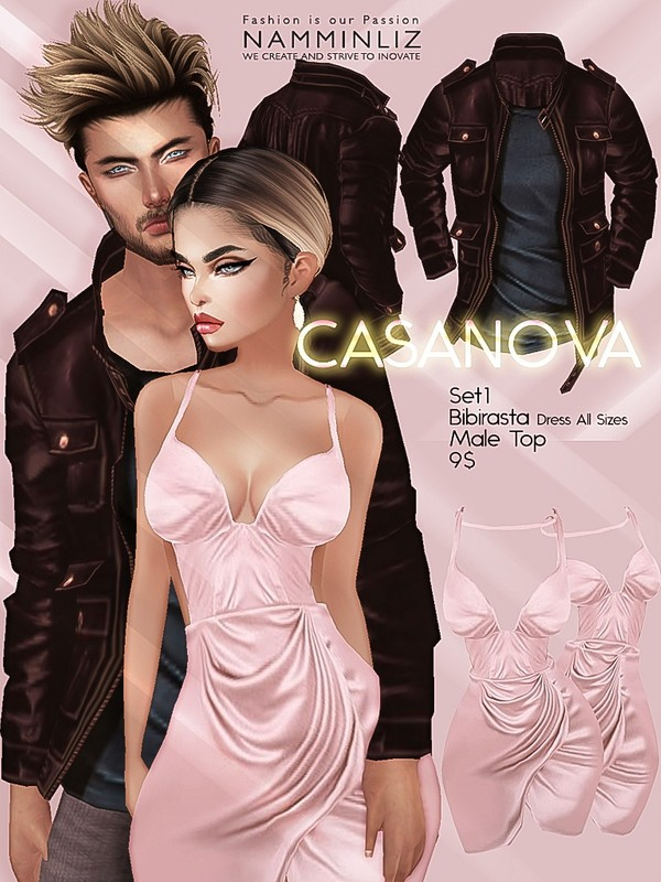 CASANOVA set1 ( Bibirasta Dress + Male Top ) JPGTexture imvu