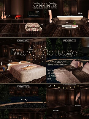 Warm Cottage imvu Home decor JPG Texture 42 textures JPG  12 *.CHKN