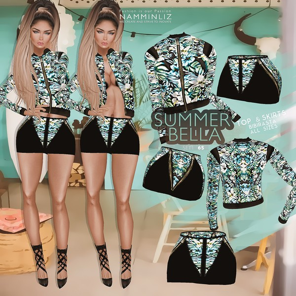 Summer Bella SET 1   •Top & Skirt Bibirasta