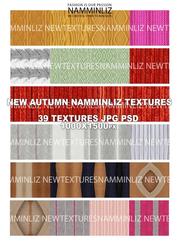 New NAMMINLIZ AUTUMN TEXTURES 39 HD texture in 1000 x 1500 pixel size