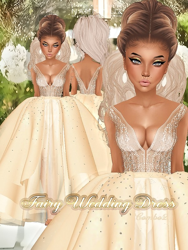 Fairy Wedding Dress Textures JPG combo2