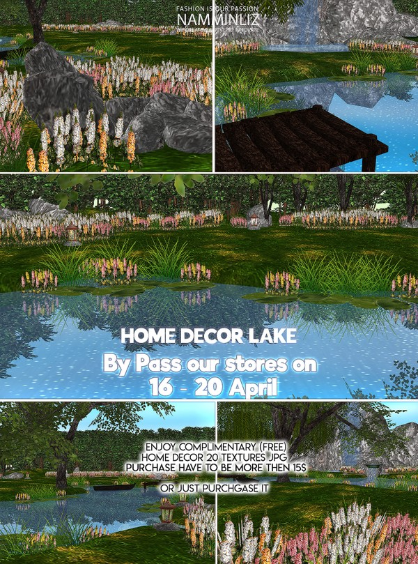 By Pass our stores on 16  - 20 April Enjoy complimentary (free) Home decor lake 20 Textures JPG CHKN