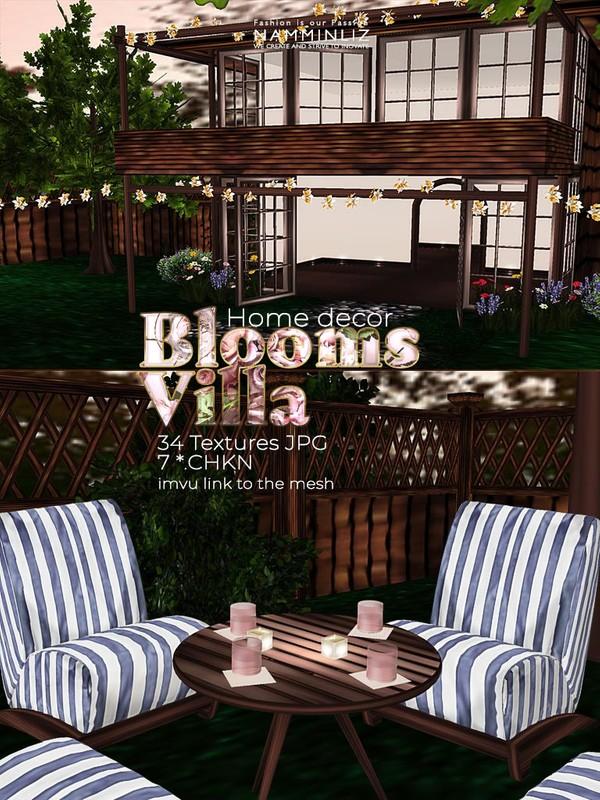 Blooms Villa Home decor 34 Textures JPG 7*.CHKN (imvu link to the mesh)