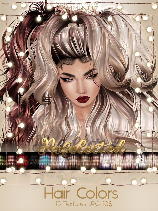 Reflected Hair Colors Full Textures JPG imvu NAMMINLIZ file sale