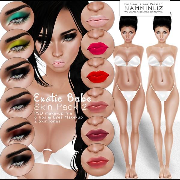 🍍🍓🍋 Exotic Babe Skin Pack2 🍍🍓🍋 ^ . ~