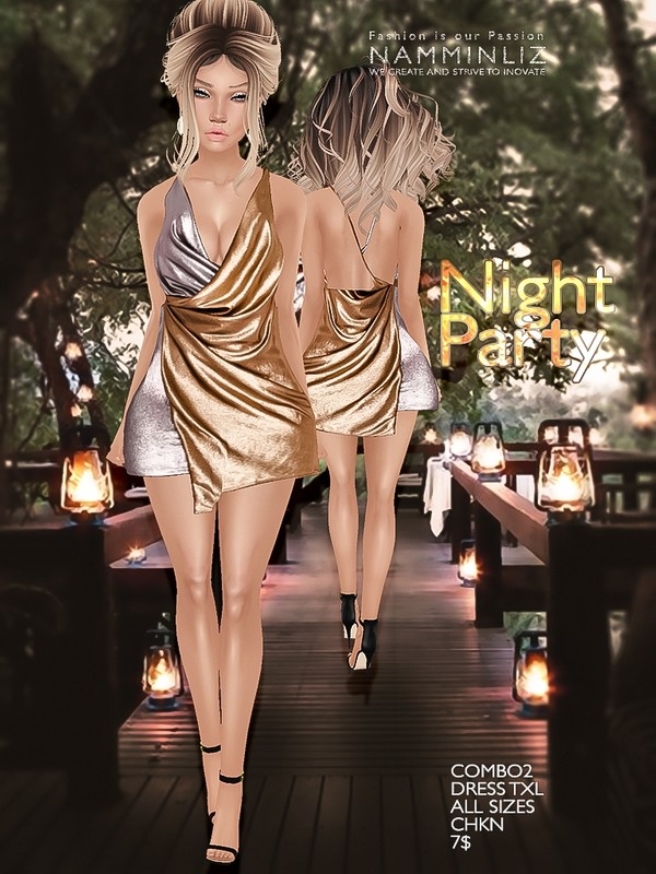 Night party combo 2 Dress Texture JPG TXL CHKN
