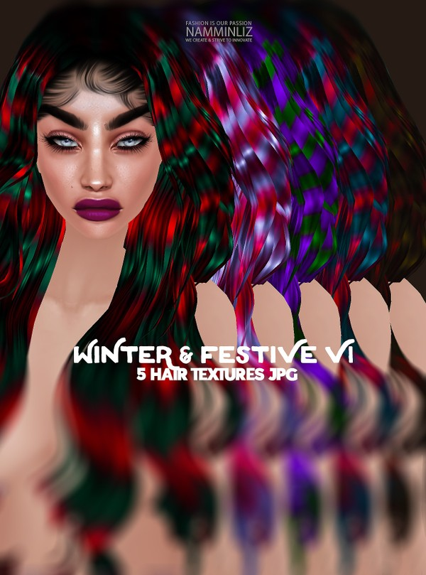 Winter & Festive 5 V1 Hair Textures JPG