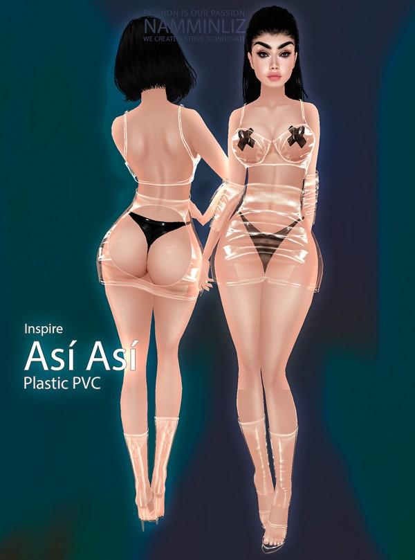 Inspire Así Así Plastic PVC Bundle Shoes & Outfit Sis3d Textures JPG CHKN AP
