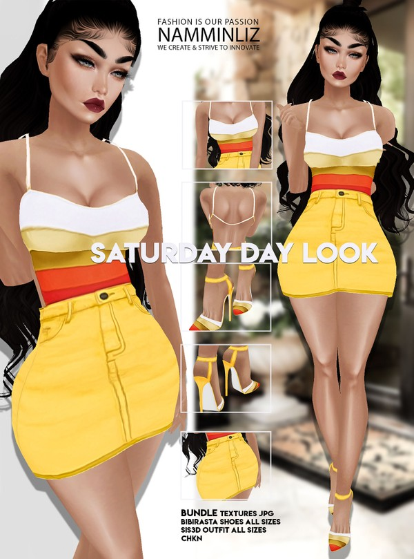Saturday-Daylook Bundle Outfit+Shoes JPG Textures CHKN