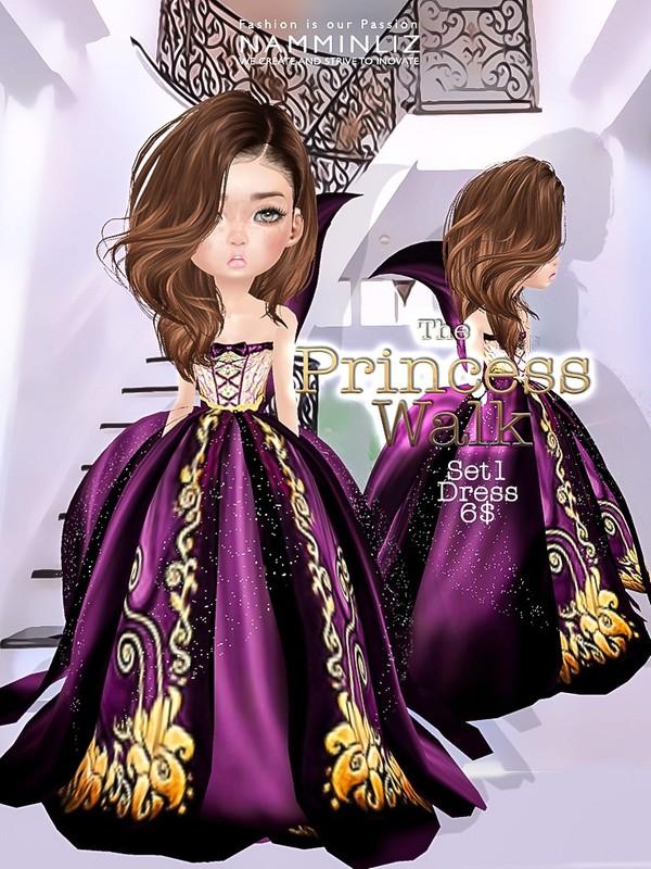 The Princess walk SET1 imvu Texture JPG delure