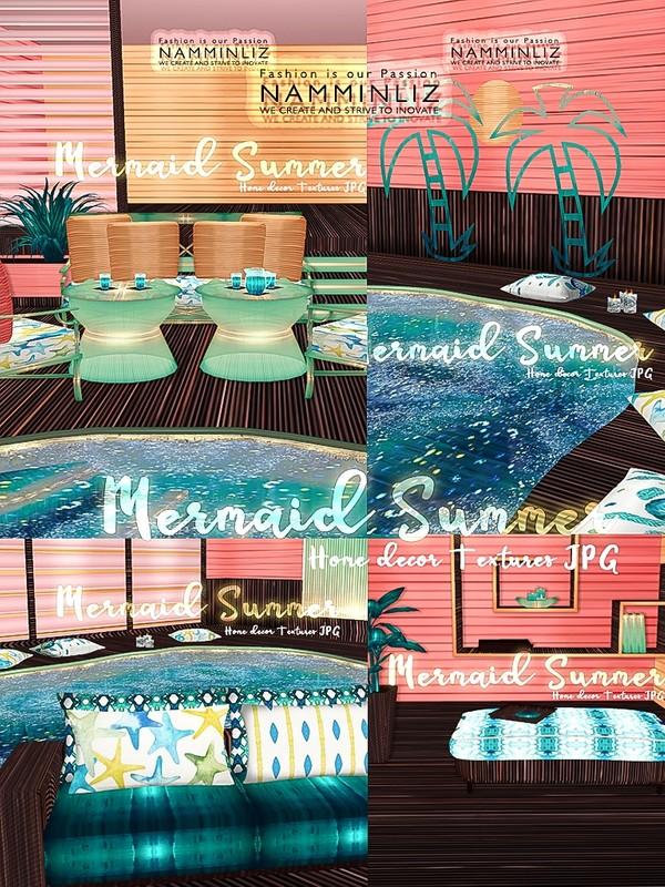 Mermaid Summer Home decor 25 JPG Textures & 4 *.CHKN