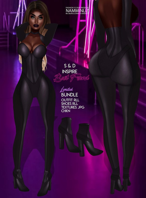 Inspire BestFriend V1 S&D Bundle Outfit, Shoes RLL Textures jpg CHKN Limited to 3 clients