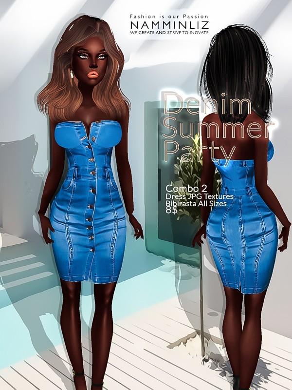 Denim Summer party combo2 ( Dress Textures JPG bibirasta all sizes)