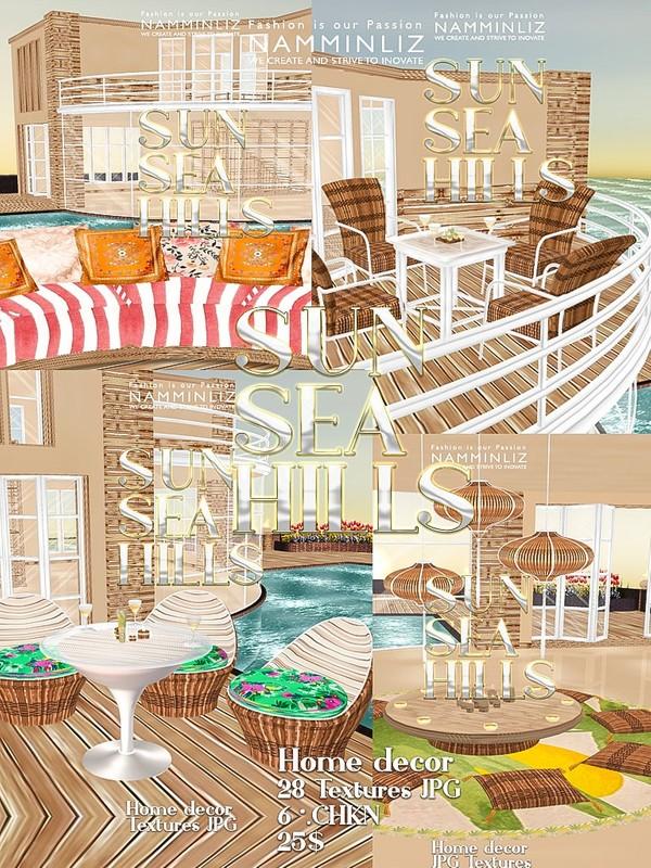 Sun Sea Hills Home decor 28 JPG Textures  6 *.CHKN