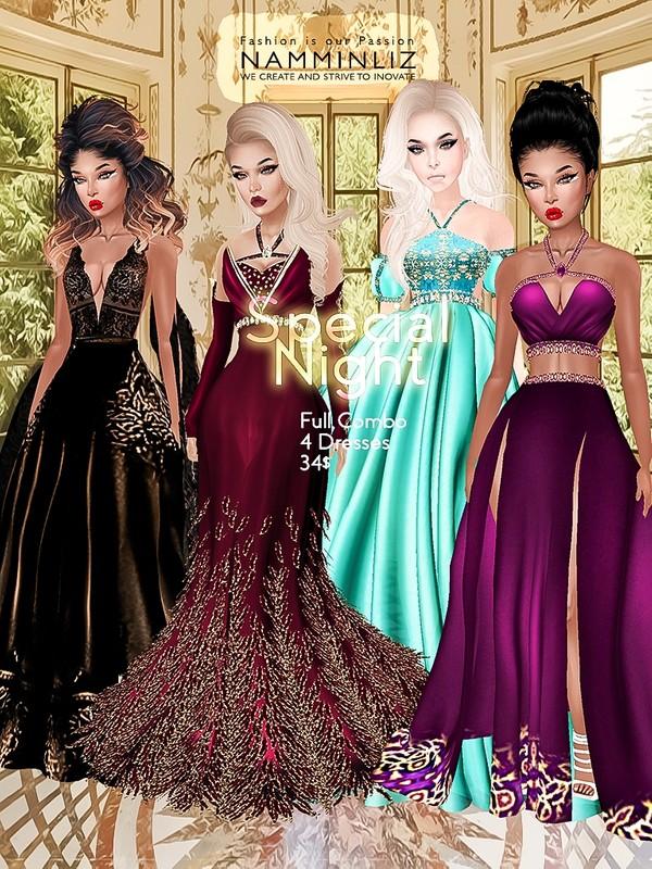 Special Night Full combo 4 Dresses JPG