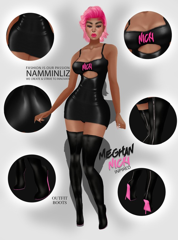 Nicki x Meghan-Nicki Inspired Textures PNG CHKN (Outfits, Boots) Limited