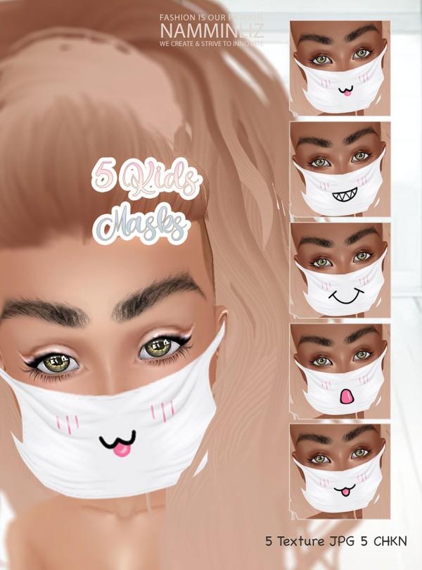 5 Kids Masks Textures JPG CHKN