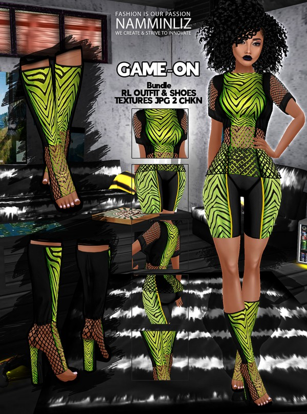 Game-On Bundle V1 Outfit & Shoes Textures JPG 2 CHKN Limited to 3 clients only