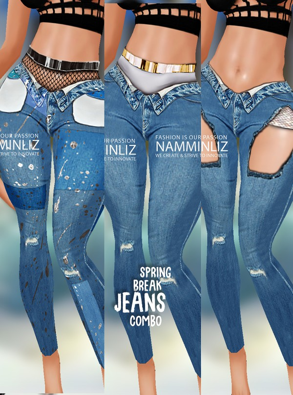 Full Spring Break Combo Jeans Sis3d Textures PNG CHKN
