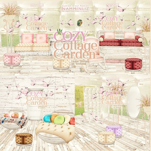 CozyGarden Home Decor 54 Textures (only 4 piece available)