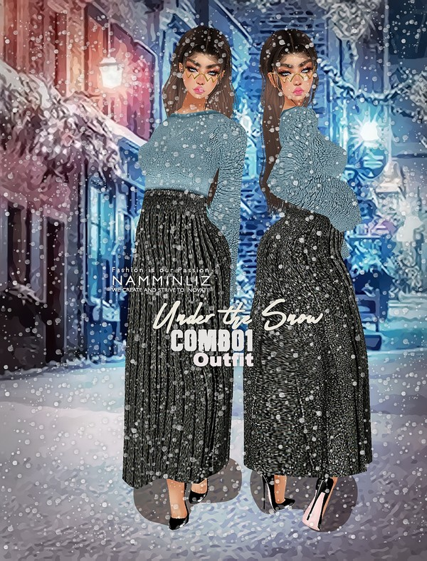 Under The Snow Combo1 Textures PNG 1 CHKN Outfit (Sweater & Skirt)