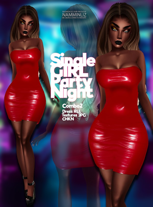 Single Girl Party Night combo 2 Dress RLL Textures JPG CHKN