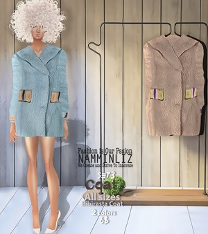 Coat SET3  Bibirasta Coat  All sizes w/ 2 Different colors