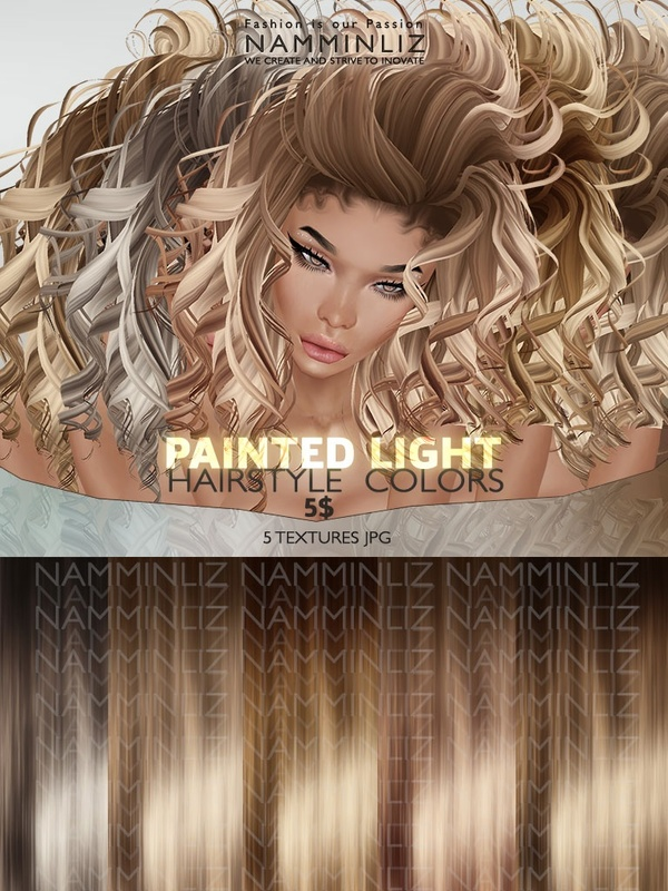 Painted Light Hair colors 5 Textures JPG